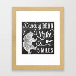 Dancing Bear Lake Sign Framed Art Print
