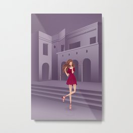 Colonial girl Metal Print