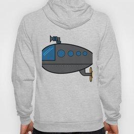 A Cute Illustration Of A Gray Submarine Underwater Sea Ocean Navy Submariner Snorkeling Air Bubbles Hoody
