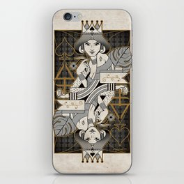 Heretic Playing Cards - Queen of Spades iPhone Skin