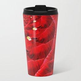 Floral Vortex. Metal Travel Mug