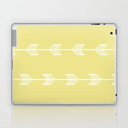 Running Arrows in White and Yellow Laptop & iPad Skin