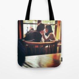 Love In A Paris Cafe. Tote Bag