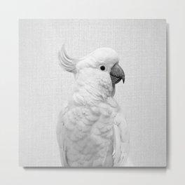 White Cockatoo - Black & White Metal Print