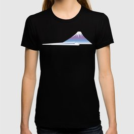 Mt.Fuji and Bullet train in Japan T-shirt
