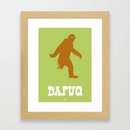 Dafuq (Sasquatch) Framed Art Print