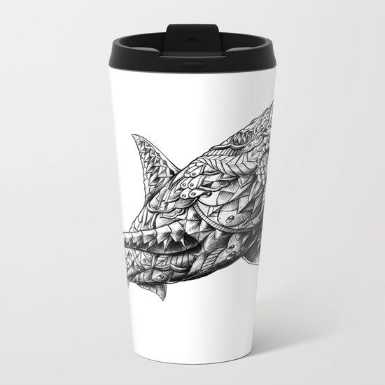 Great White Metal Travel Mug