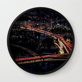 Traffic in the City Wall Clock