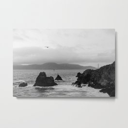 View of the Golden Gate Bridge from Sutro Baths Metal Print