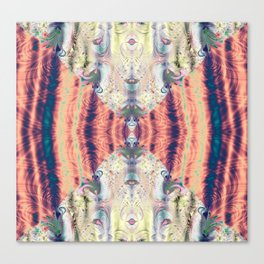 Copper Pastel Menagerie Fractal Abstract Canvas Print