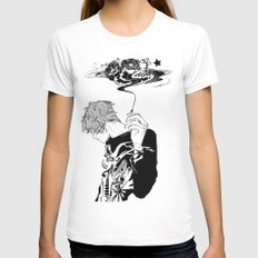 Blackthorn Womens Fitted Tee White SMALL