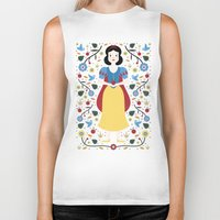 snow white Biker Tanks featuring Snow White  by Carly Watts