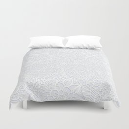 Embossed Powder & Pearl Lace Duvet Cover