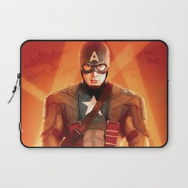 Captain The First  Avenger America by Big Foot Studios Laptop Sleeve
