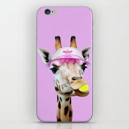 TENNIS GIRAFFE iPhone Skin