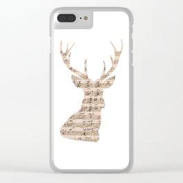 Music Deer Head Clear iPhone Case