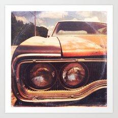 Rusty And Blue - America As Album Art Art Print