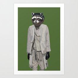 Raccoon wearing Ann Demeulemeester Art Print