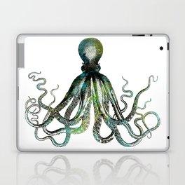 Octopus marine life watercolor art Laptop & iPad Skin