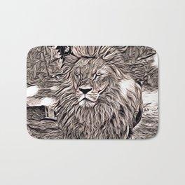 Rustic Style - Lion Bath Mat