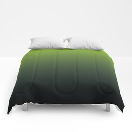 Ombre | Lime Green and Charcoal Grey Comforters