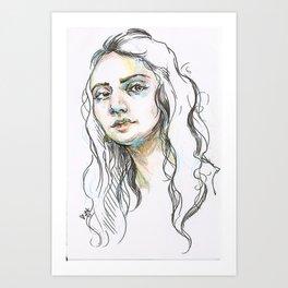 Blue Shadows Art Print