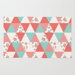 Triangle quilt pattern cute florals dots cheater quilt blanket quilter must have cute baby shower  Rug