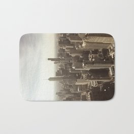 Chicago Buildings Sears Tower Sky Sun Color Photo Bath Mat