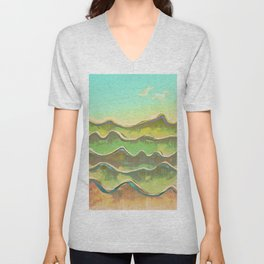 Magic Flight over the Sea of Clouds Unisex V-Neck