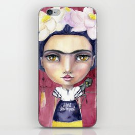 Little Frida by Jane Davenport iPhone Skin