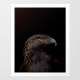 Golden Eagle   Darkness Series   Artist: Nick Clements Art Print