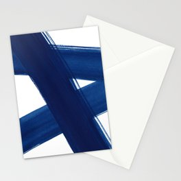 Indigo Abstract Brush Strokes | No. 4 Stationery Cards