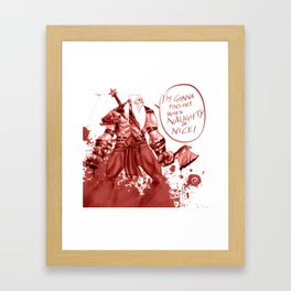 Splatter Santa Framed Art Print