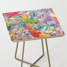 Colorful Distortion Side Table