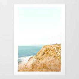 Travel photography Palos Verdes Ocean Cliffs Seascape Landscape II Art Print