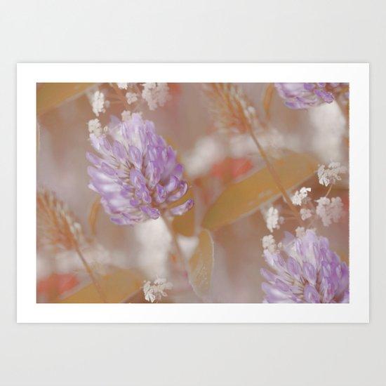 Flower Poetry In Nature Art Print