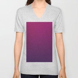 DEEPEST PURPLE - Minimal Plain Soft Mood Color Blend Prints Unisex V-Neck