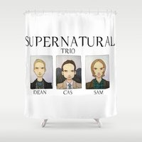 supernatural Shower Curtains featuring SUPERNATURAL by Space Bat designs