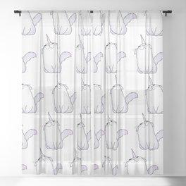 Uni-Kitty Sheer Curtain