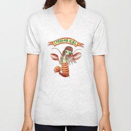 Lobster Girl Unisex V-Neck