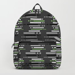 Technology Agender Pride Abstract stripe Pattern Backpack