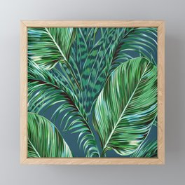 Blue and Green Framed Mini Art Print