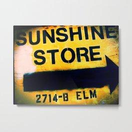 Sunshine Store Metal Print