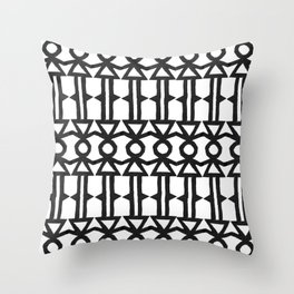 Girl Stick Figure Graphic Pattern Throw Pillow