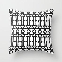 Girl Stick Figure Graphic Pattern Throw Pillow