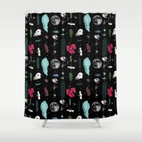 jungle Shower Curtains featuring Jungle by Sydney Holland
