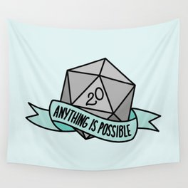 Anything is Possible D20 Wall Tapestry
