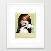 lindsay lohan Framed Art Prints featuring Lindsay Lohan Is My Spirit Animal by Jason The Real McKoy