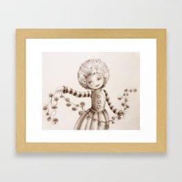 Chain of seeds Framed Art Print