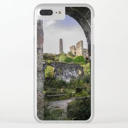 MINE RUINS AT WHEAL BASSET STAMPS CORNWALL Clear iPhone Case